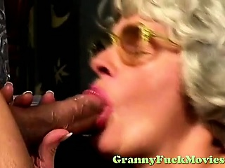 Horny granny using her soft snatch