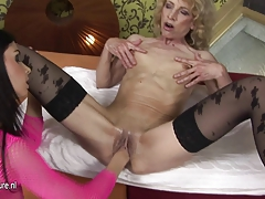 European mama getting fisted by a super-naughty babe