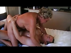 Insatiable Grandmother Riding Cock