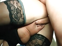 I am Pierced - kinky grandma with piercings riding trunk