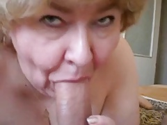 Granny makes fine deep-throats to cock