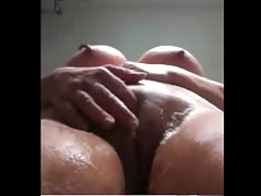granny in  washing juicy fat snatch