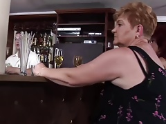 super-naughty grannies fuck at the bar