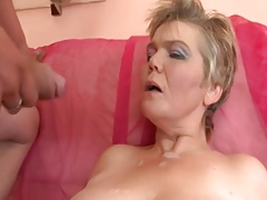 Blonde Mature  for youthful schlong