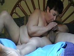 Steamy couple (short hairy granny) p2