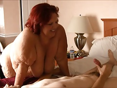 SSBBW Grandmother  With Youthfull Boy