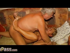OmaPass Horny old girls jerk their old pussy