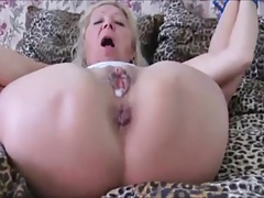 Czech granny Elvira All trussed up & ass fucked in High Heels