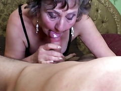 Sexy granny suck and fuck young dude