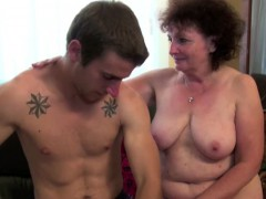 Grandma Seduce Young Boy To Lost  and Plumb her