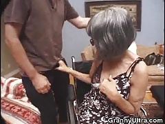 Grandmother Places That Cock In Her Mouth