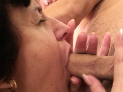 Stud picks up and fucks grandma from behind