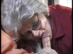 Grandmother sucks and smashes her grandsons dick