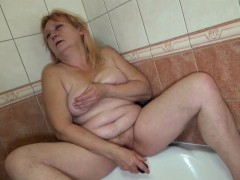 OldNannY Mature Bernadett Fucked With Belt dick