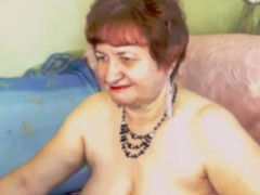 Magnificent red-haired grandmother contact her adult vagina on camera