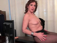 Office  Amanda and Penny disrobe off and play