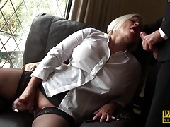 British GILF masturbating with dildo