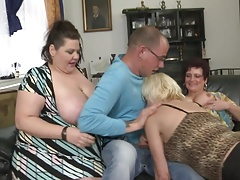 Sizzling  with 3 mature mothers and boy