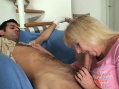 Old mother in law white in  pleases him