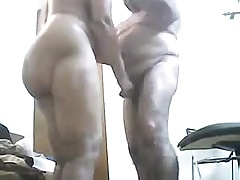 Mummy sucks dad cock