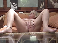Old grandmother with hungry anal and pussy holes