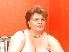 grannie jerks in private webcam