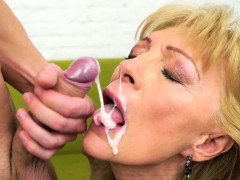 Mature grandmother sucking