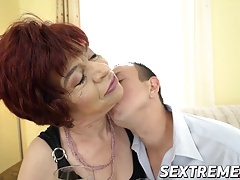 Lusty grannie Donatella loves  a ultra-kinky fellows hard spear