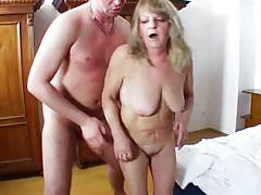 Chubby Granny Share Young Cock With Her Acquaintance