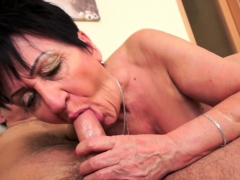 Chubby european granny pussylicked and