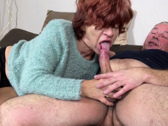 STEP SON  UGLY  GRANDMA TO  AND SWALLOW CUM